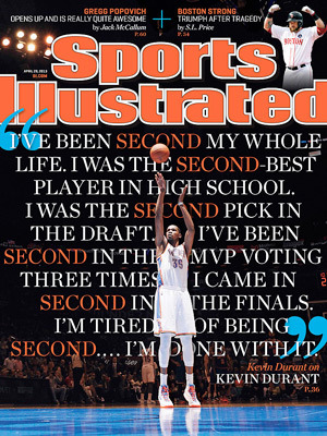 KEVIN DURANT SPORTS ILLUSTRATED 7/18/2016 ISSUE GOLDEN STATE WARRIORS