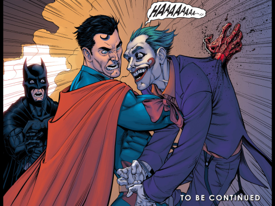 "When Superman kills someone in the comics, he turns into a bad guy. Not that Joker didn't deserve it after setting off a nuke in Metropolis. (This ""Injustice"" storyline became an awesome video game.)"